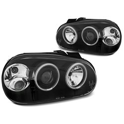 Fari CCFL Angel Eyes Volkswagen Golf IV 97-03 Neri