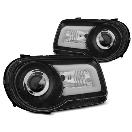 Fari Tube Light Chrysler 300 C 05-10 Neri