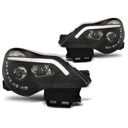 Coppia di fari DRL con vera luce diurna Opel Corsa D 06-14 Neri