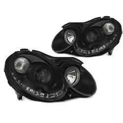 Coppia di fari LED stile luce diurna Mercedes Clk W209 03-10 Chrome