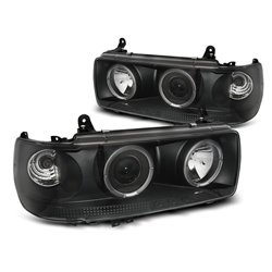 Fari Angel Eyes Toyota Land Cruiser FJ 80 90-97 Neri