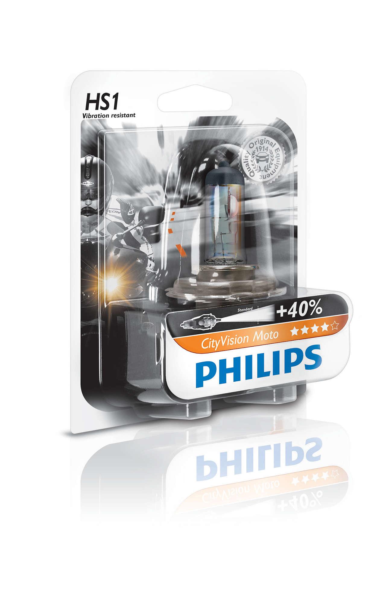 Lampada alogena philips hs1 cityvision moto 12v for Lampada alogena