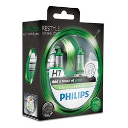 Lampada alogena Philips H7 ColorVision green 12V 55W