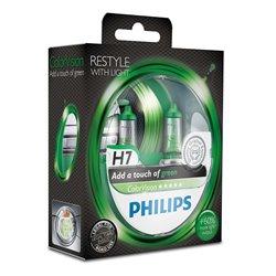 Lampada alogena Philips H7 ColorVision green 12V 55W