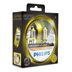 Lampada alogena Philips H7 ColorVision Yellow 12V 55W