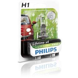 Lampada alogena Philips H1 LongLife EcoVision 12V 55W
