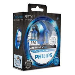 Lampada alogena Philips H4 ColorVision Blue 12V 55W