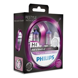 Lampada alogena Philips H4 ColorVision Purple 12V 55W