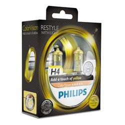 Lampada alogena Philips H4 ColorVision Yellow 12V 55W
