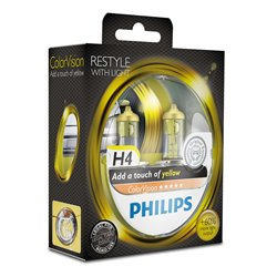 Lampada alogena Philips H4 ColorVision Yellow 12V 55W