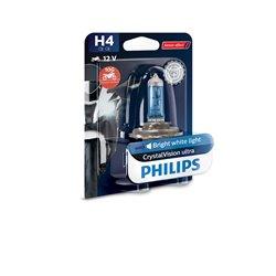 Lampada alogena Philips H4 CrystalVision ultra Moto 12V60/55