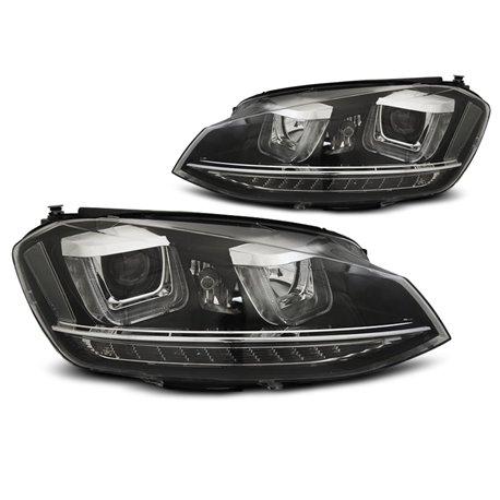 Coppia di fari DRL e DTS per Volkswagen Golf VII 12-17 Neri