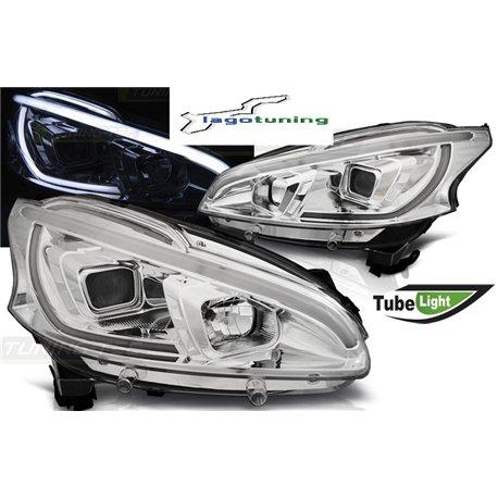 Fari Led tube light vera luce diurna Peugeot 208 12-15 Chrome