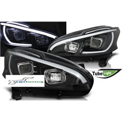Fari Led tube light vera luce diurna Peugeot 208 12-15 Neri