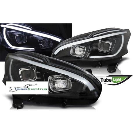 Fari Led tube light vera luce diurna Peugeot 208 12-15 Neri