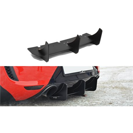 Spoiler estrattore sottoparaurti posteriore Seat Leon MK2 MS 05-09