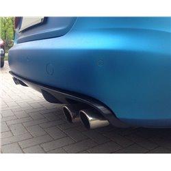 Spoiler estrattore sottoparaurti posteriore 2 uscite larghe AUDI A4 B8 07+