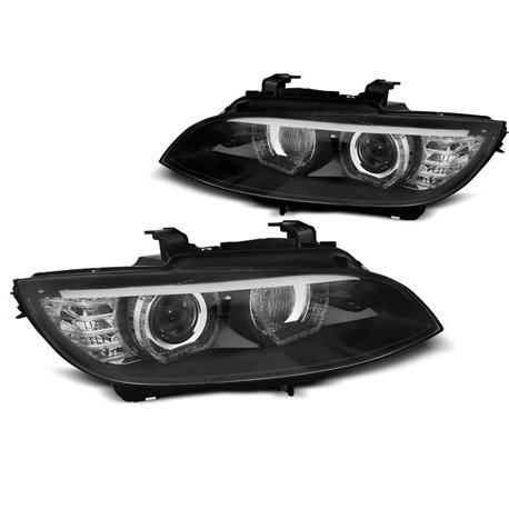 Fari Angel Eyes Xenon BMW Serie 3 E92 / E93 06-10 Neri