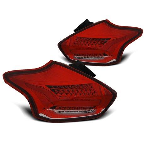 Coppia fari Led posteriori Ford Focus III HB 2015- Rossi