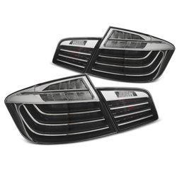 Coppia fari Led bar posteriori BMW F10 10-13 Neri e cromati