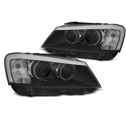 Fari a Led con Angel Eyes BMW X3 F25 10-14 Neri
