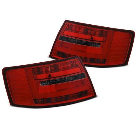 Coppia fari Led Bar posteriori Audi A6 C6 04-08 berlina Rossi e fume