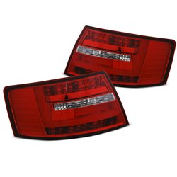 Coppia fari Led Bar posteriori Audi A6 C6 04-08 berlina Rossi