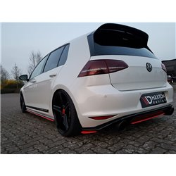 Sottoparaurti splitter laterali posteriori Volkswagen Golf VII GTI Clubsport 16-17