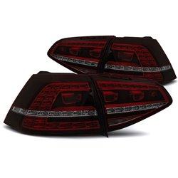 Coppia fari Led DTS posteriori Volkswagen Golf VII 13-17 GTI Look Rossi Fume