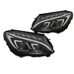 Coppia di fari con proiettori LED e DRL Mercedes W205 2014-2018