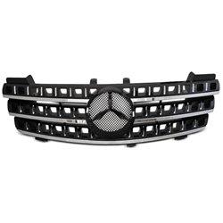 Mercedes W164 05-08 Griglia calandra anteriore black-chrome
