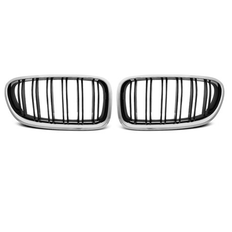 Griglia calandra anteriore BMW F10 / F11 10-16 M5 Look Nero lucido e Chrome
