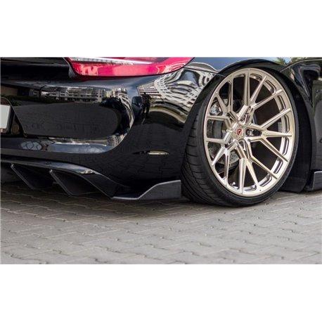 Splitter sottoparaurti posteriori Porsche Cayman Mk2 981 Coupe 2012-