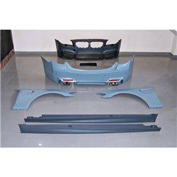 Kit estetico per BMW F10 10-12 Look M4 con Parafanghi e silenziatore