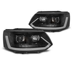 Fari Led Tube light Volkswagen T5 10-15 Neri T6 Look
