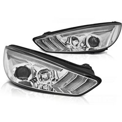 Fari Led vera luce diurna DRL e DTS Ford Focus MK3 15-18 Chrome