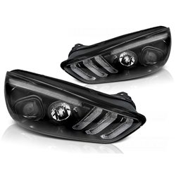 Fari Led vera luce diurna DRL e DTS Ford Focus MK3 15-18 Chrome