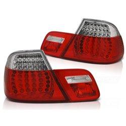 Coppia fari LED e DTS posteriori BMW Serie 3 E46 Coupe 99-03 Rossi e Bianchi