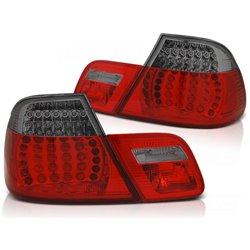 Coppia fari LED e DTS posteriori BMW Serie 3 E46 Coupe 99-03 Rossi e Fume