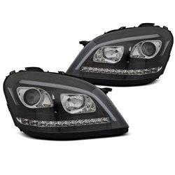 Coppia di fari a Led stile luce diurna e DTS Mercedes Classe M W164 05-07 Neri