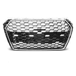 Audi A4 B9 15-19 Griglia calandra anteriore RS4 Style Nera e Chrome