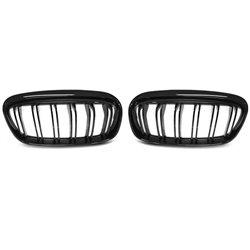 Griglia calandra anteriore BMW F45 / F46 14-18 Double bar nero lucido