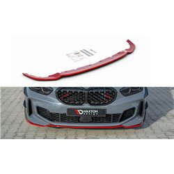 Spoiler sottoparaurti anteriore BMW 1 F40 M-Pack 2019- V.4 Red
