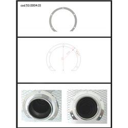 Protezione estetica inox Universale Ragazzon rotondo 80 mm
