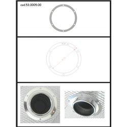 Protezione estetica inox Universale Ragazzon rotondo 90 mm