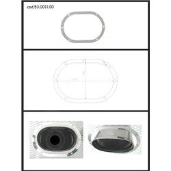 Protezione estetica inox Universale Ragazzon ovale 128x80 mm