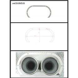 Protezione estetica inox Universale Ragazzon ovale 2x70 mm
