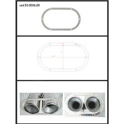 Protezione estetica inox Universale Ragazzon ovale 2x80 mm