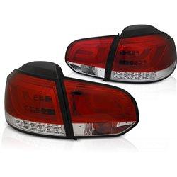 Coppia fari Led Bar posteriori Volkswagen Golf VI 08-12 Rossi e Bianchi
