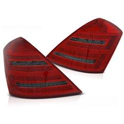 Coppia fari Led DTS posteriori Mercedes Classe S W221 05-09 rossi fume